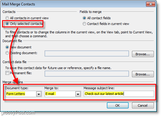 Mail Merge with Outlook 2010   Techies - Freeware Software Updates